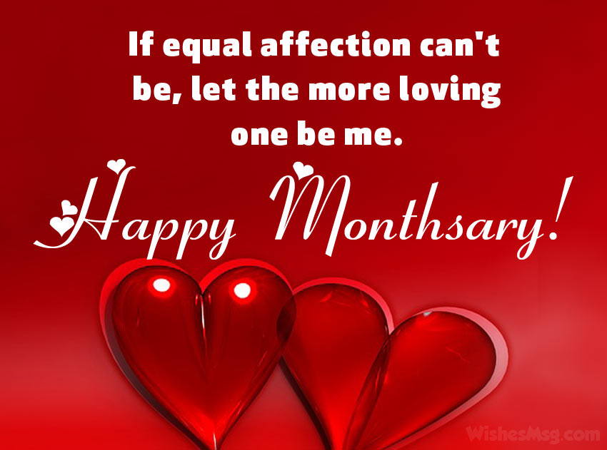 Monthsary Message For Girlfriend - Wishes Quotes - WishesMsg