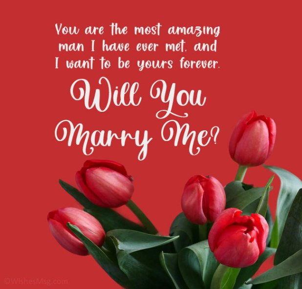 Marriage Proposal Messages for Him