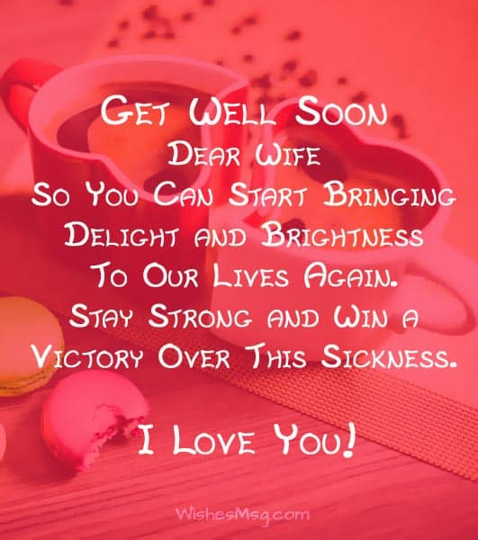Get Well Soon Wishes For Wife Get Well Messages WishesMsg