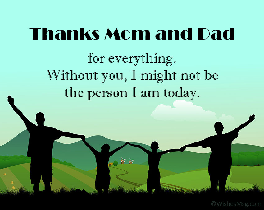 Thank You Message For Parents - Appreciation Quotes