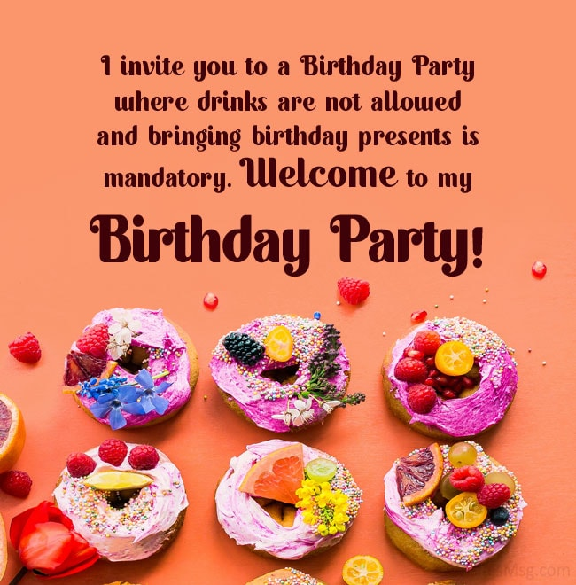 birthday invitation messages and