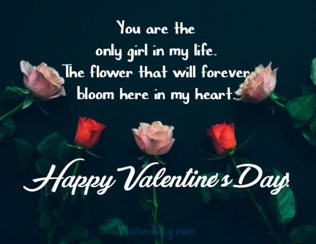 valentine wishes for girlfriend