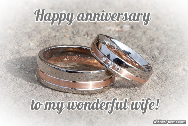 happy anniversary to my wife