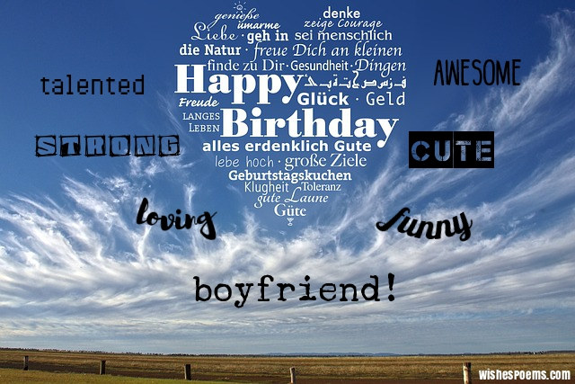 100 Birthday Wishes For Boyfriends Wishes Poems