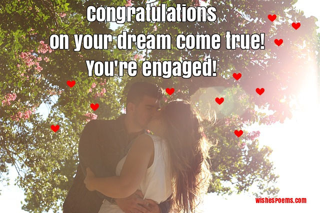 Congratulations for engaged couples