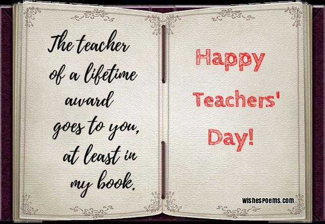 100 Happy Teachers\' Day Wishes, Images, Quotes, Poems & Messages