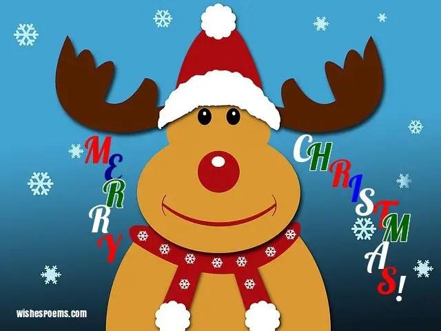 merry christmas images reindeer