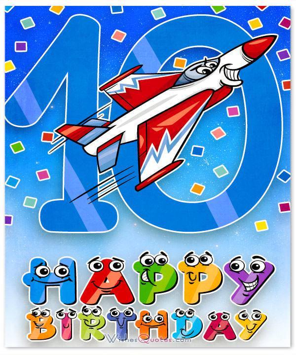 10 Yr Old Birthday Cards