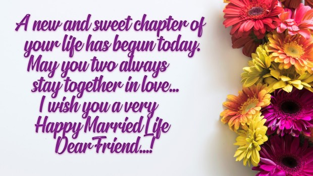 Happy Married Life Wishes Messages For Everyone