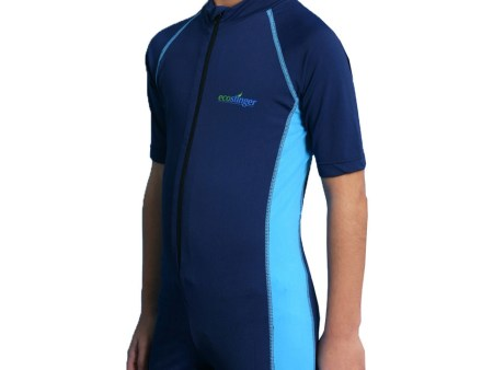 Boys Swimwear Sunsuit Short Sleeves with UV Protection