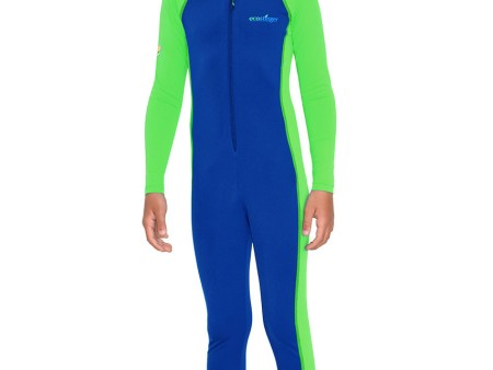 Boys Full Body Swimsuit Sun UV Protection Royal Lime