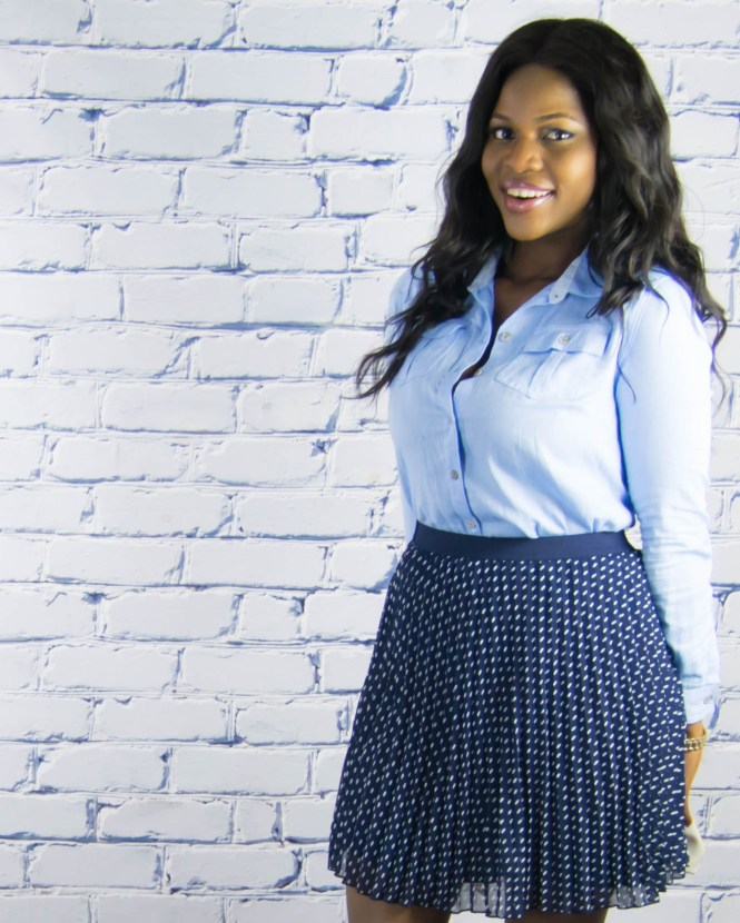 polkadot skirt-denim top-7