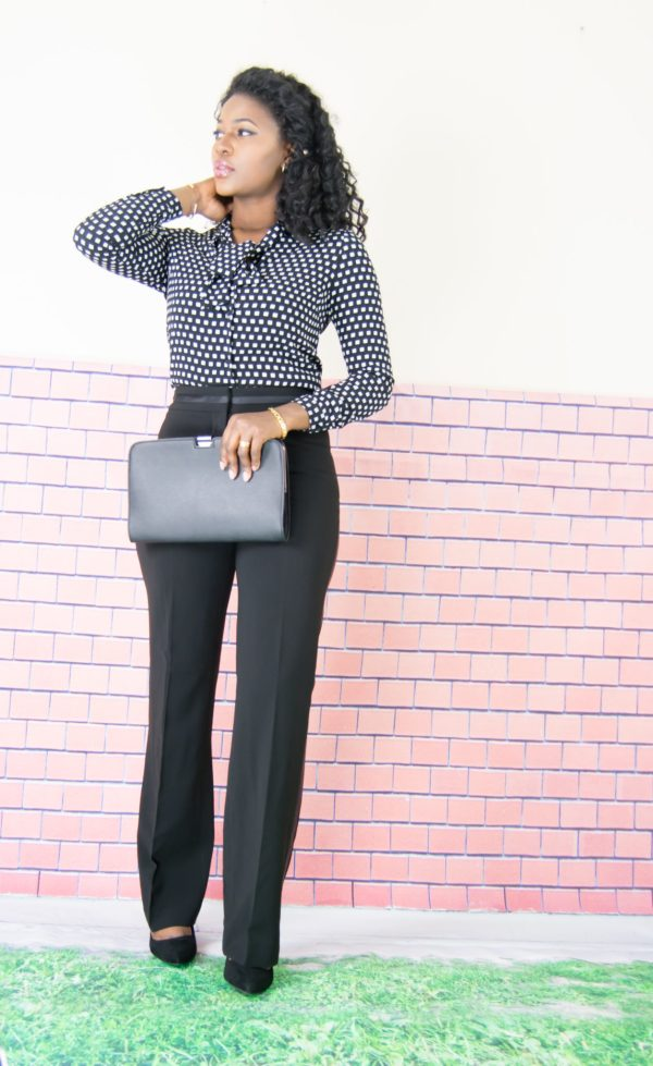 wide suit trousers outfit