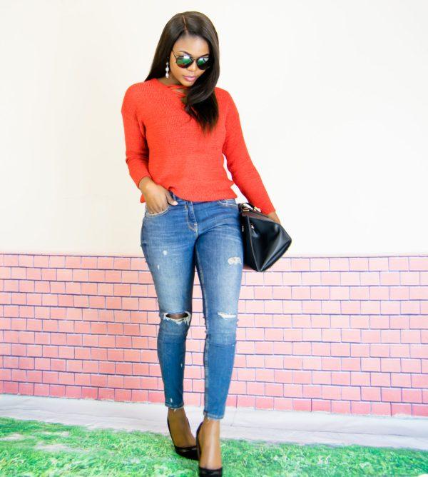 primark lace up jumper
