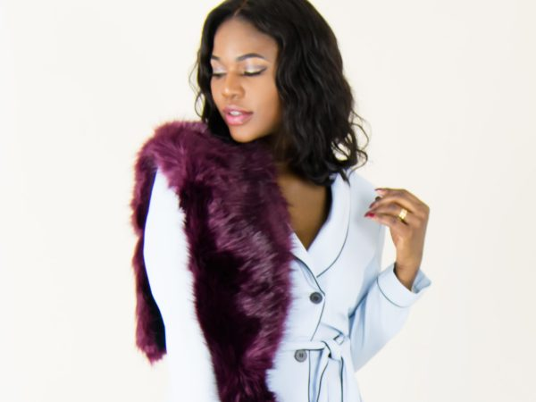 fur collar scarf