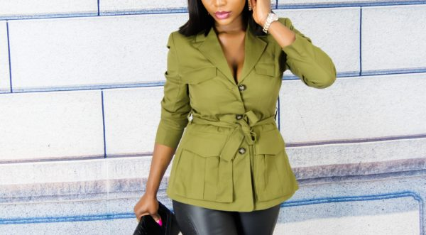 women fitted utility jacket