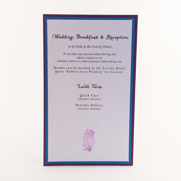 Pocketfold invitation with magnetic clasp.