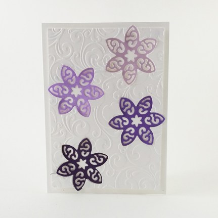 Handmade floral birthday card with embossing.