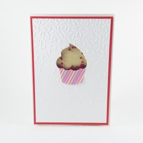 Handmade cupcake birthday cards