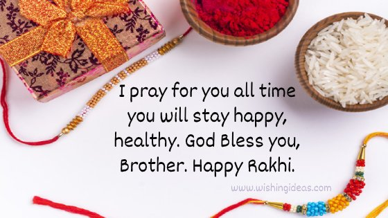 Raksh Bandhan Image with Quotes for Brother