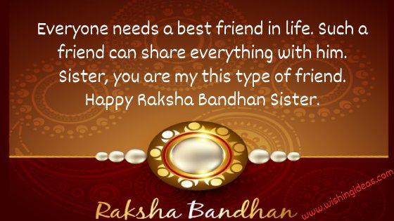 raksha bandhan image with quotes for sister