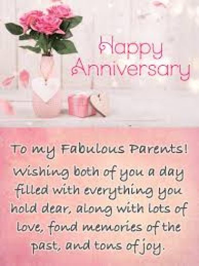 Fond Memories - Happy Anniversary Card for Parents | Birthday ...