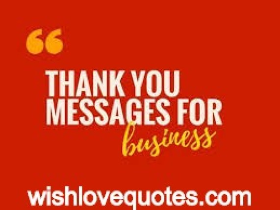 Business Thanks Messages