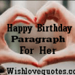 Happy Birthday Paragraphs for Her