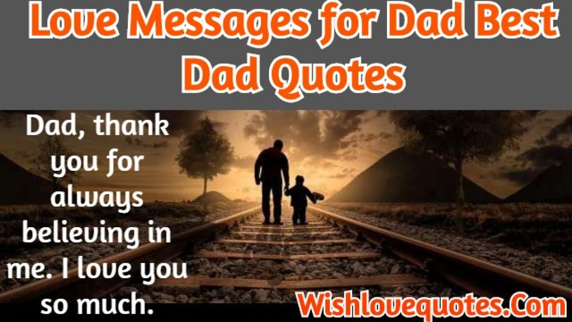 Love Messages for Dad
