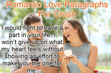 Love Paragraphs For Crush