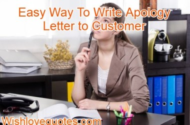 apology letters to customers