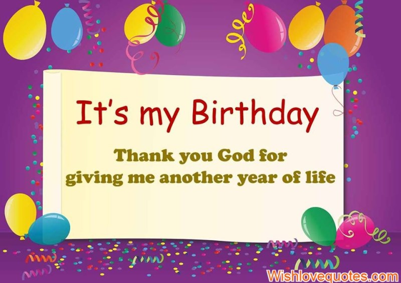 thank god for another birthday