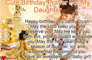 Birthday Prayer For My Daughter