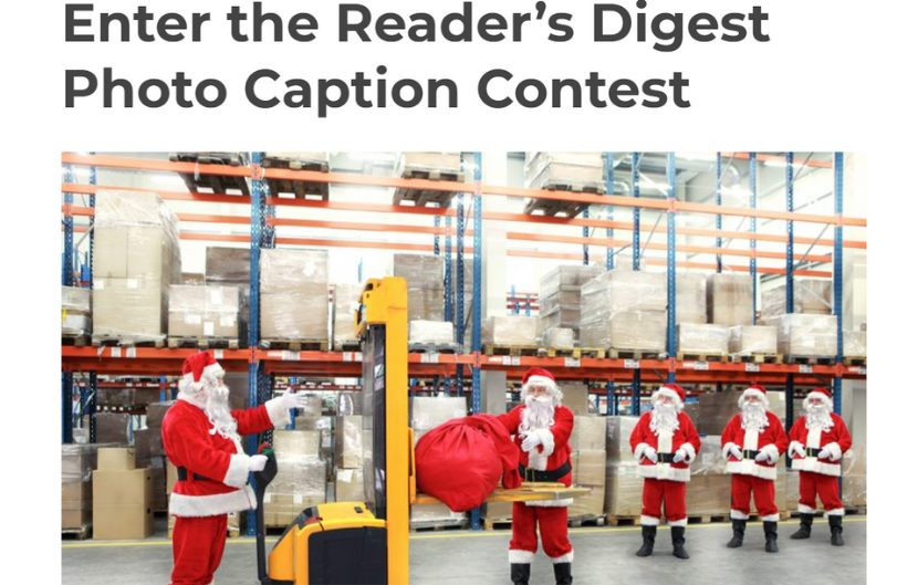 readers Digest photo contest