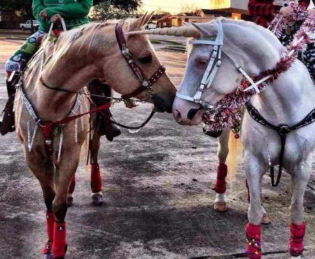 """15"""" Moonlight Unicorn Horn for Horses"""