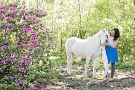 """Moonlight"" Contoured Natural-Look Unicorn Horn™ - Photo © Amy Martin Photography"