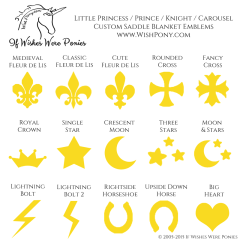 Wishpony Saddle Blanket Emblems