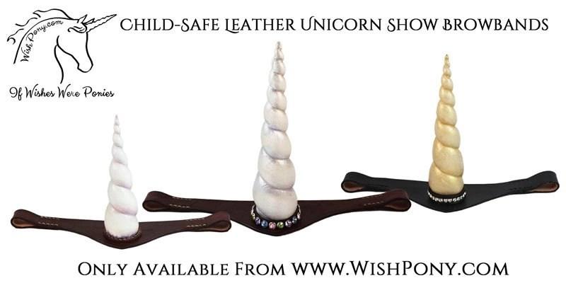 Leather Unicorn Browband