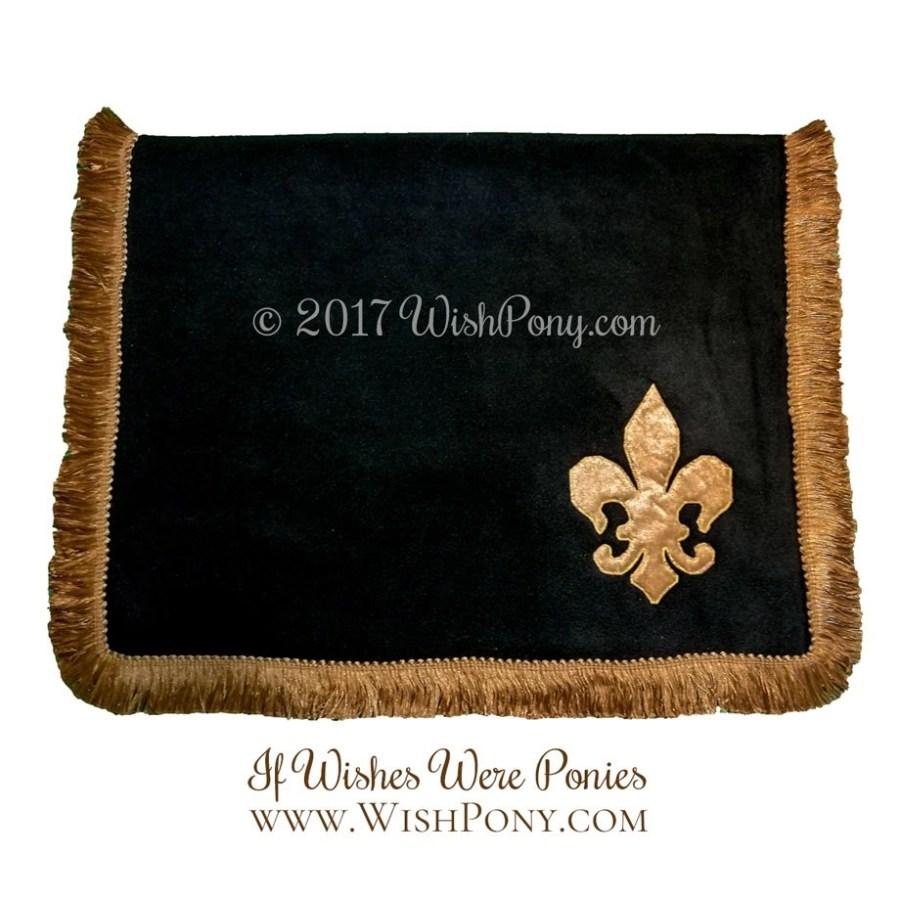 Fleur de Lis Saddle Blanket Black