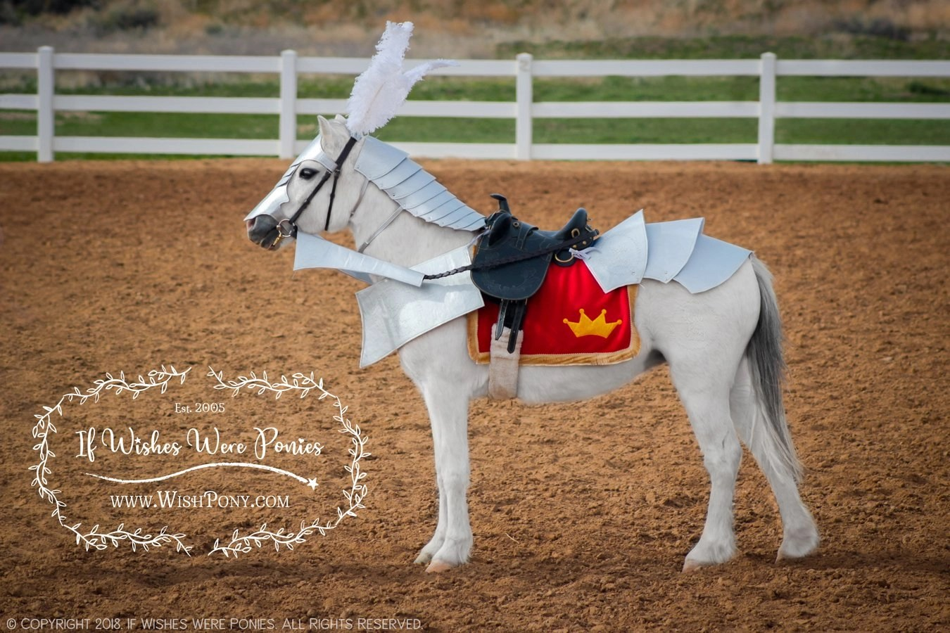 WishPony Medieval Knight's Steed Costume Armour for Ponies