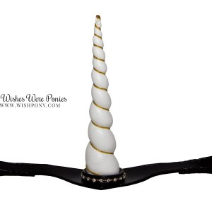 Black Unicorn Browband White Horn