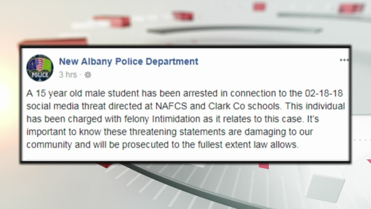 15-year-old arrested for making threat directed at southern Indiana schools