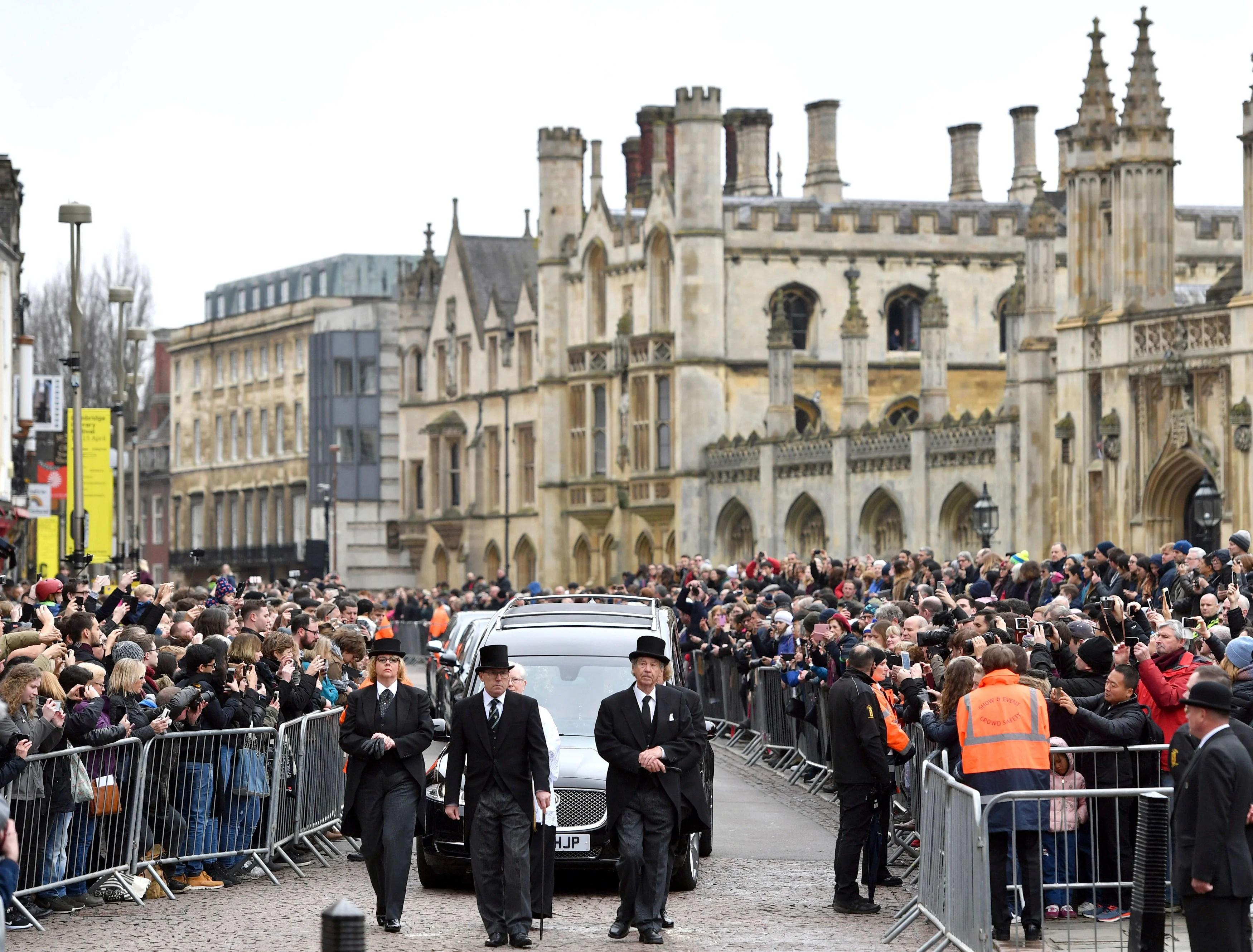 Britain Stephen Hawking Funeral_1522530875564