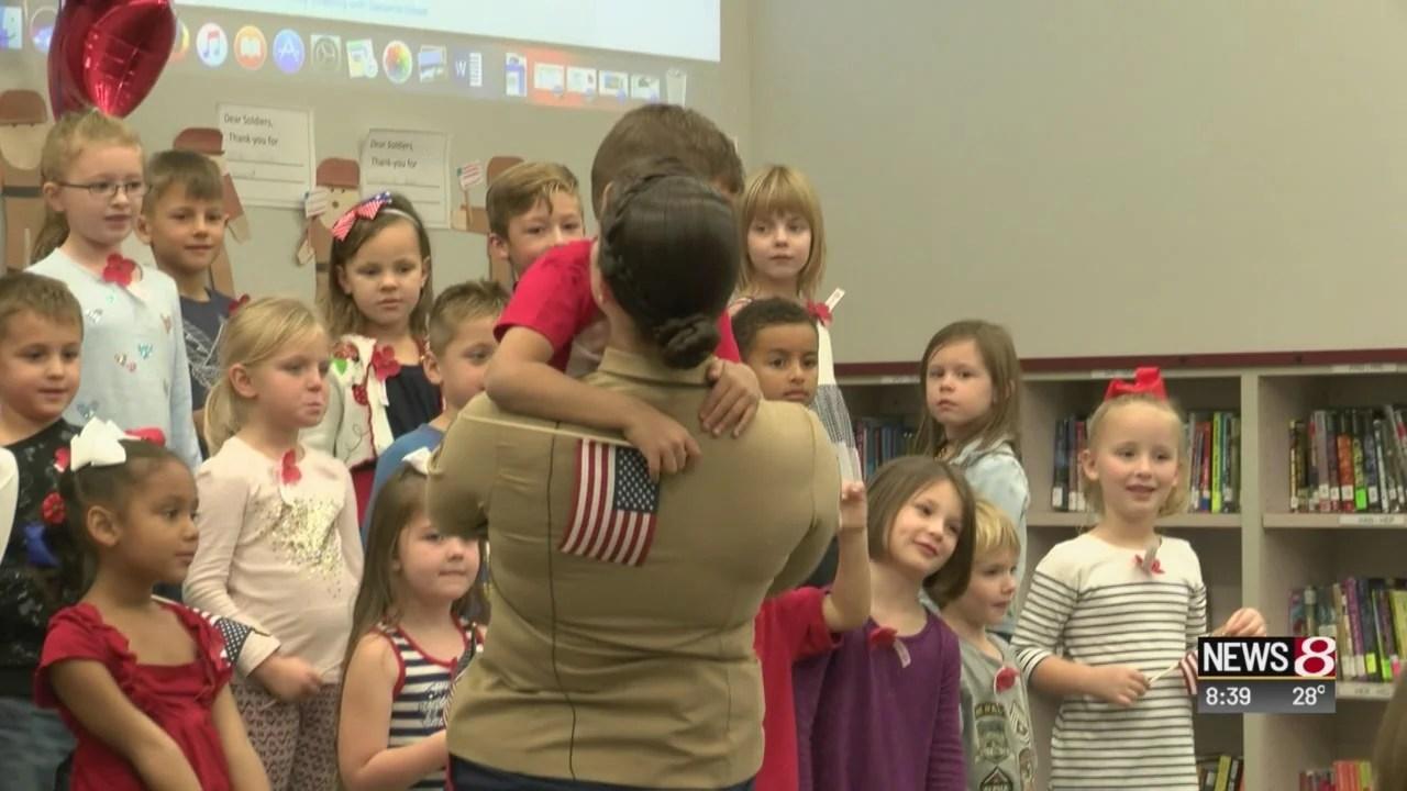 Marine surprises her son at Noblesville school