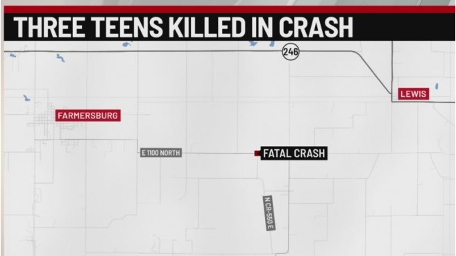 3 teens killed in crash in southern Indiana