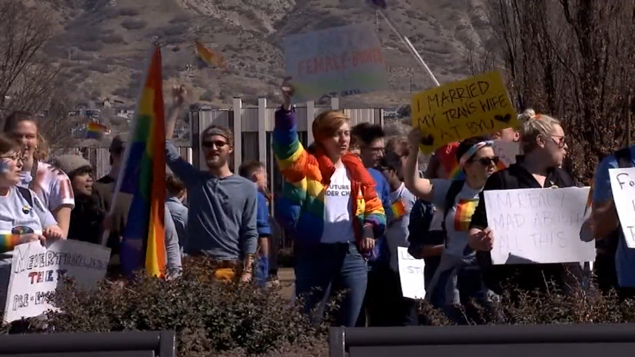 Indy Gas Prices >> Mormon students protest BYU stance on same-sex behavior - WISH-TV   Indianapolis News   Indiana ...