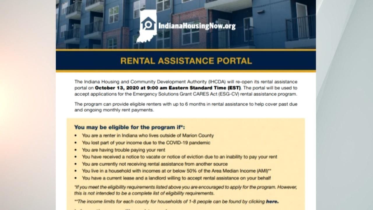 Indiana Reopens Rental Assistance Portal For Tenants With Pending Eviction Cases Wish Tv Indianapolis News Indiana Weather Indiana Traffic