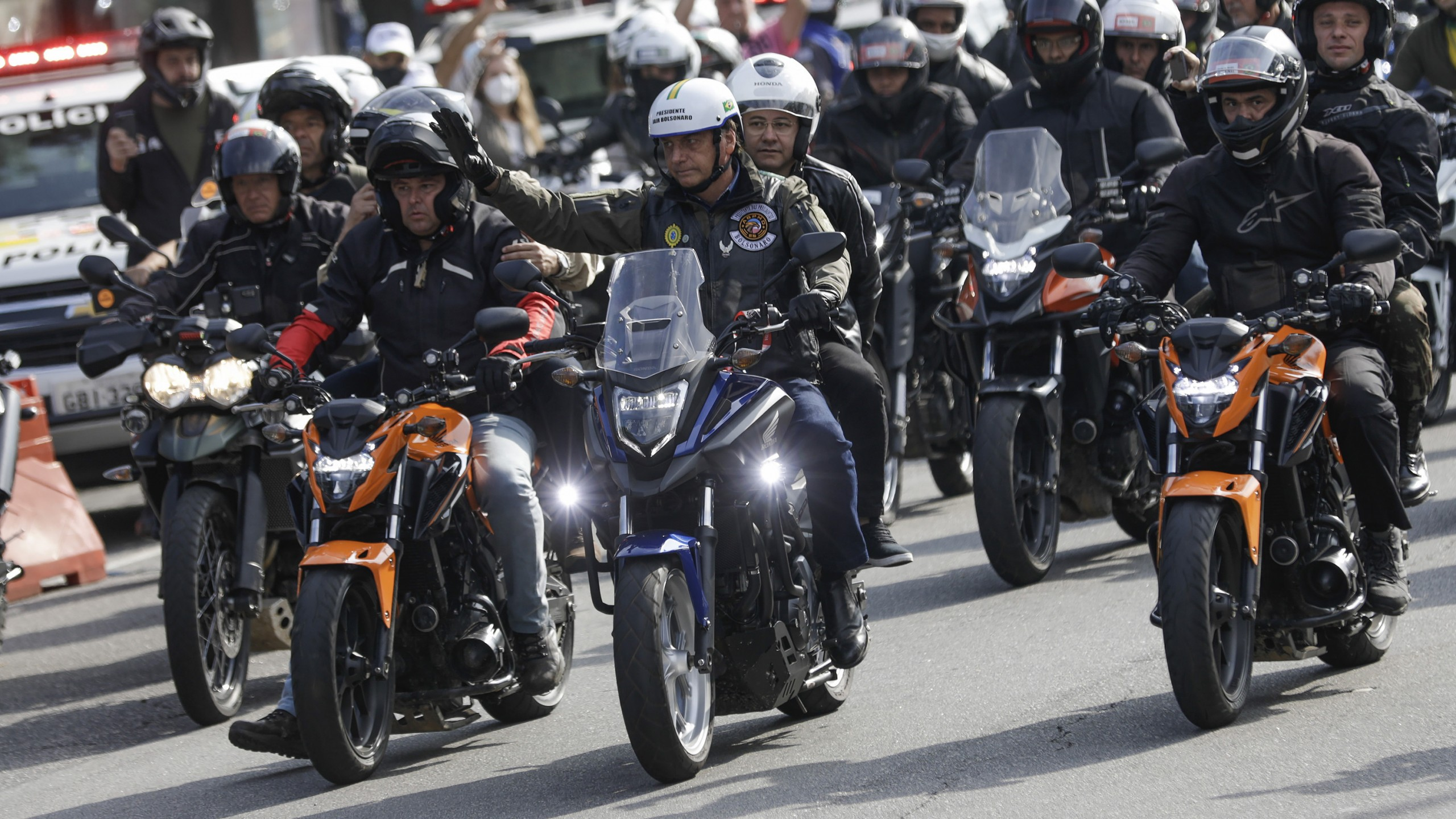 Brazil's president fined for flouting mask at mass motorcycle rally - WISH-TV