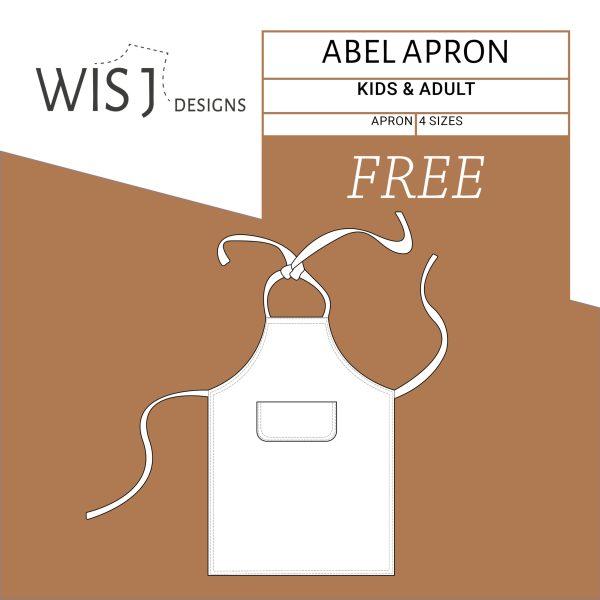 Abel apron free sewing pattern