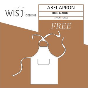Abel apron free sewing pattern